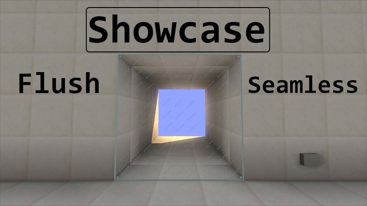Minecraft Showcase 3x3 Flush Seamless Glass Door Hd