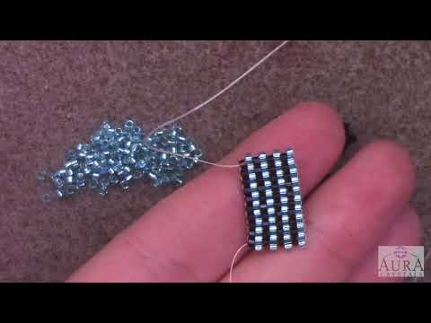 Learn the Even Count Peyote Stitch - A Beginner Beading Tutorial by Aura Crystals