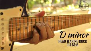 guitar backing track/jam track in d minor (rock @ 114bpm)