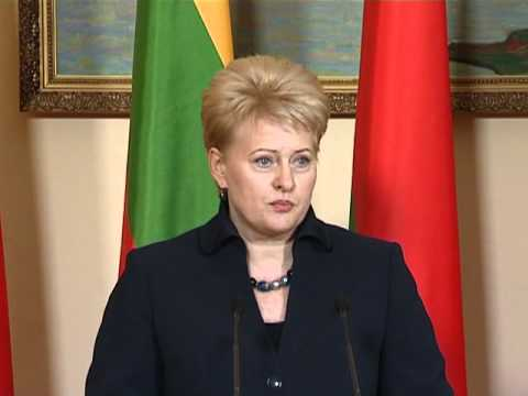 Diena.lt -- Prezidentė Dalia Grybauskaitė Minske 2010-10-20