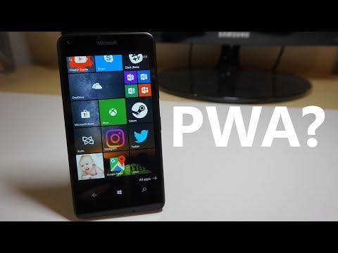 Progressive Web Apps (PWAs) on Windows 10 Mobile?