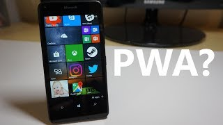 Progressive Web Apps (PWAs) on Windows 10 Mobile?