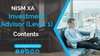 NISM XA Investment Adviser - Important tips and Contents (New Syllabus) -