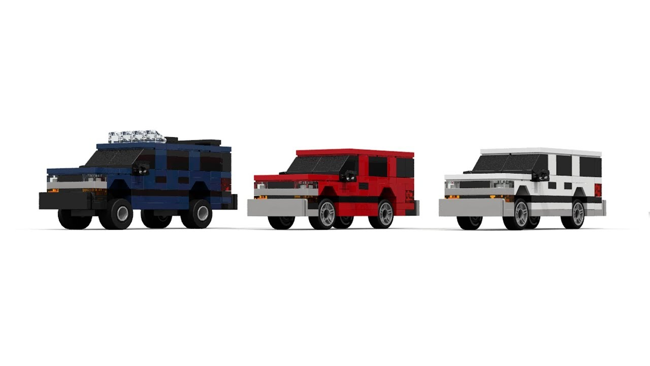 LEGO MOC Chevrolet Suburban/Tahoe Mini scale pack Tutorial ...