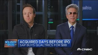 SAP CEO and Qualtrics CEO on SAP-Qualtrics deal