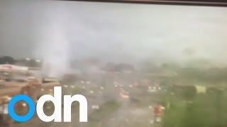 Tornado sends cars flying in Ohio