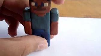 Как сделать из пластилина фигурки из игры Майнкрафт?