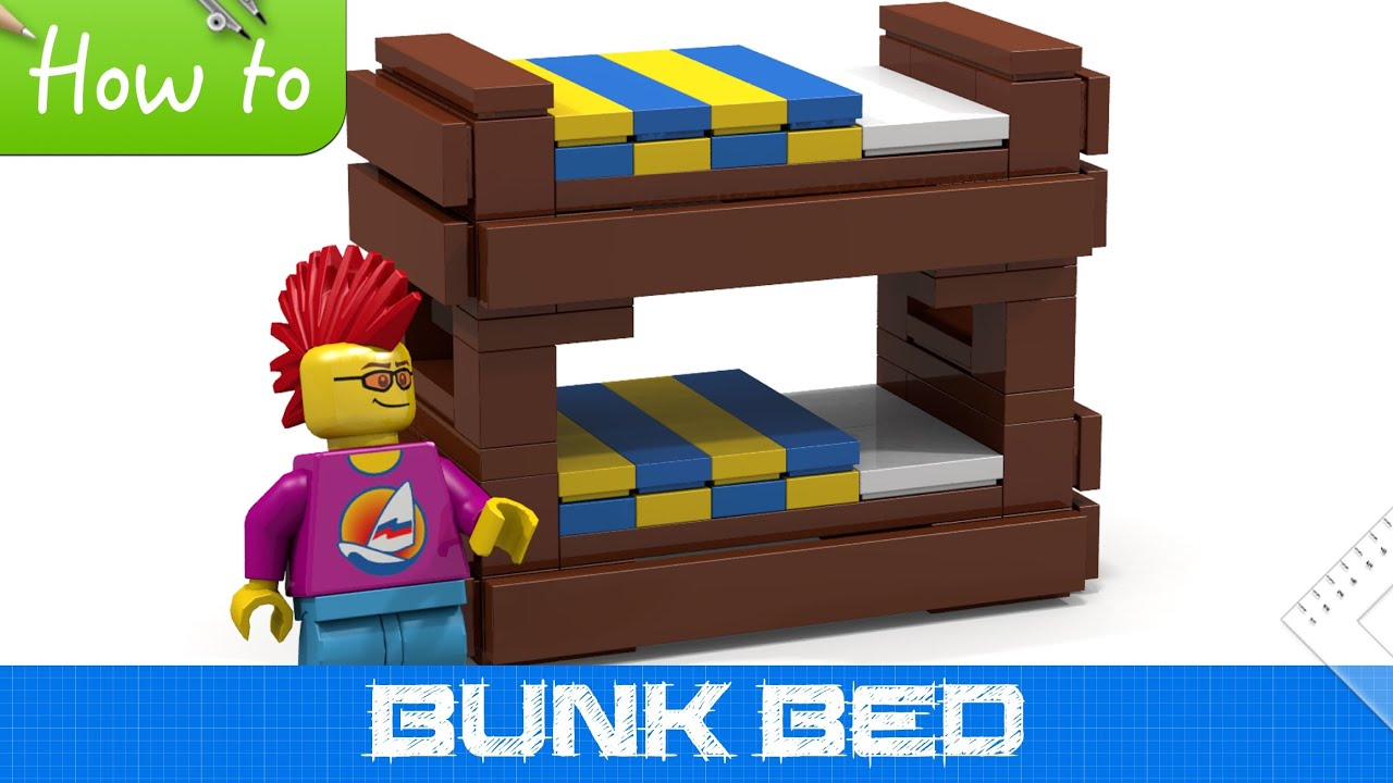 how to make a lego bunk bed basic moc youtube. Black Bedroom Furniture Sets. Home Design Ideas