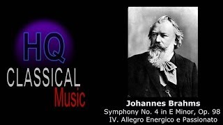 BRAHMS - Symphony No 4 in E Minor, Op 98 - IV. Allegro Energico e Passionato - HQ