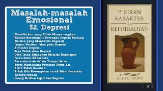 PIKIRAN, KARAKTER DAN KEPRIBADIAN: 52. Depresi bag.3 - Pdt. AH. Marbun