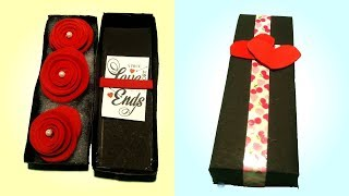 Rose Day special craft | Give special gift to your loved one| Rose box DIY | Tuber Tip