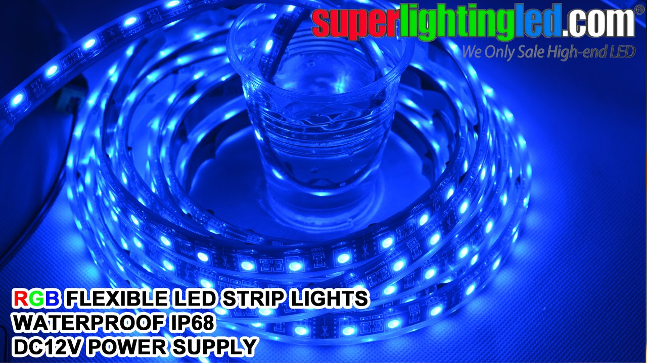 RGB Waterproof IP68 Outdoor Use LED Strips Lighting With MINI RGB Controller