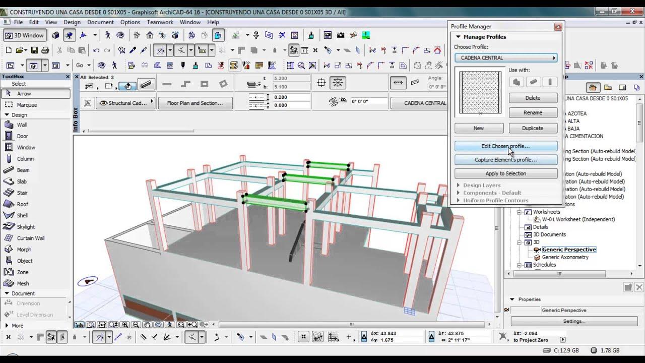 Curso archicad construyendo una casa desde 0 s01x05 youtube for Detalles de una casa