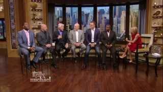 Kelly Ripa interviews the Fox NFL Sunday hosts