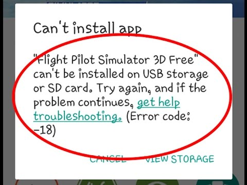 How to fix error code 18 in Google play store App can't install