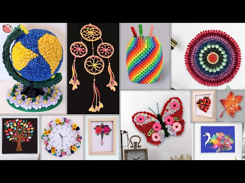 11 Paper Quilling DIY Room Decor ! Best Craft Ideas For Small House