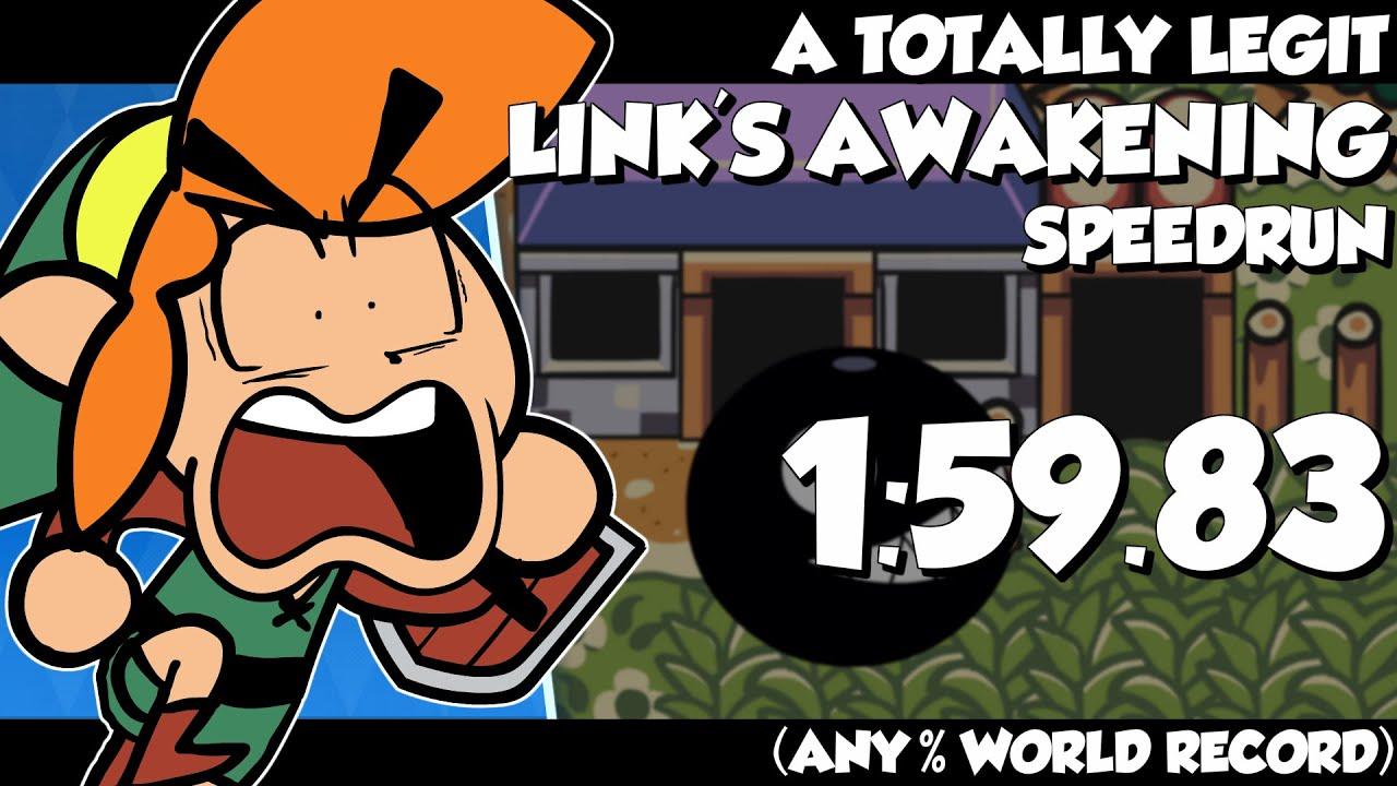 A TOTALLY LEGIT Link's Awakening DX Speedrun Cartoon (ANY% WORLD RECORD) thumbnail