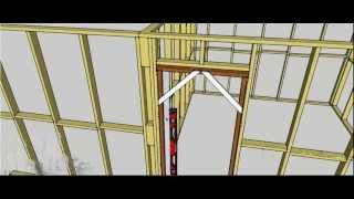 Assemble and install a door jamb