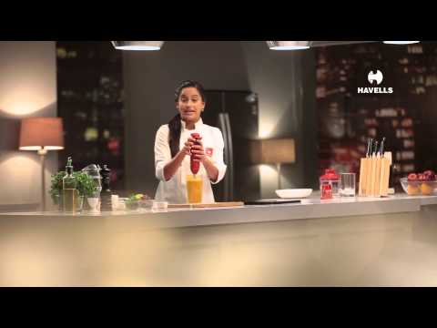 Mango Basil Almond Smoothie with Havells Hand Blender by Chef Shilarna Vaze