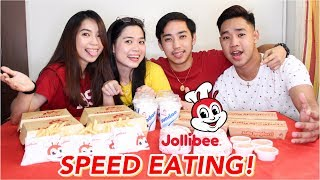 JOLLIBEE SPEED EATING CHALLENGE | Vanessa Ricohermoso