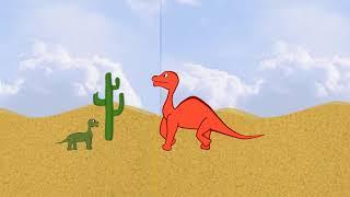 Du dinosaŭroj (rusa infana kanto en Esperanto)