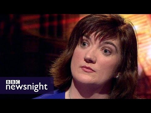 Nicky Morgan Ambushed Live On Newsnight By Evan Davis With IFS Graph Showing Poorest Will Suffer Most Under The Tories