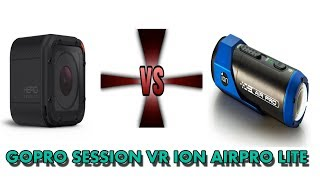 GOPRO SESSION 4 -VR- ION AIR PRO LITE (ACTION CAMERA BATTLE}