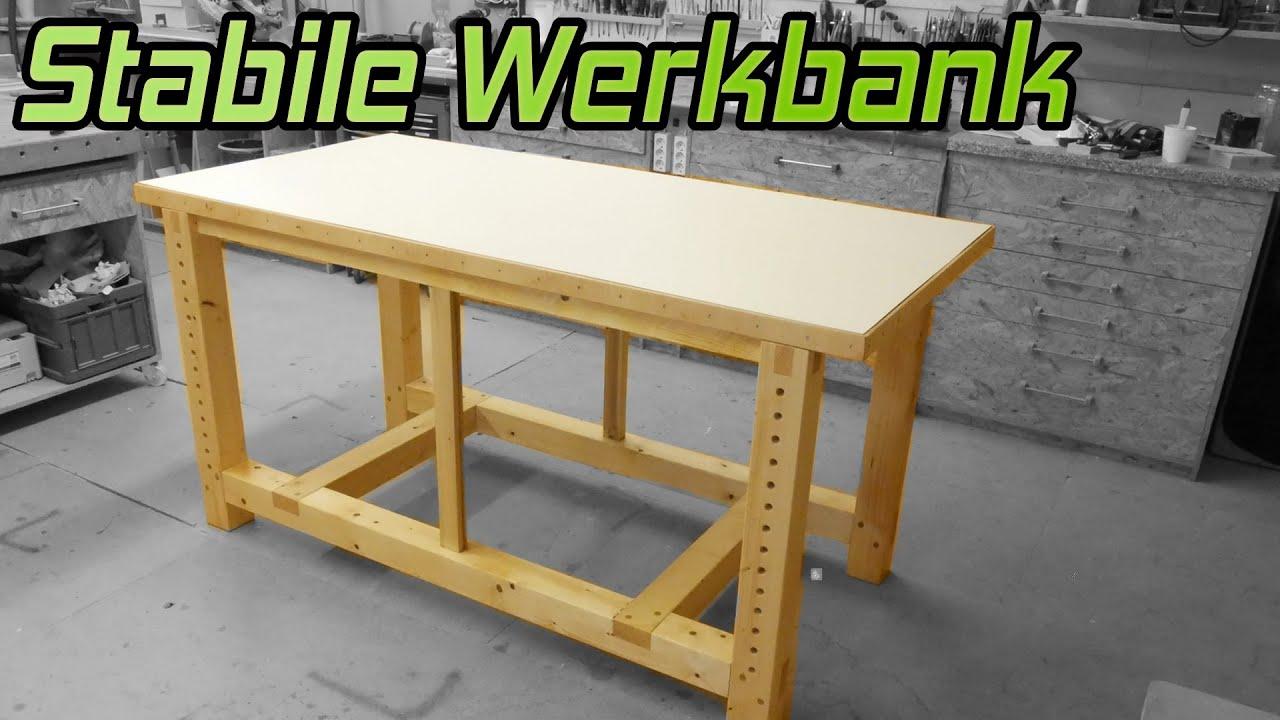 1 so baust du eine stabile werkbank f r die werkstatt. Black Bedroom Furniture Sets. Home Design Ideas
