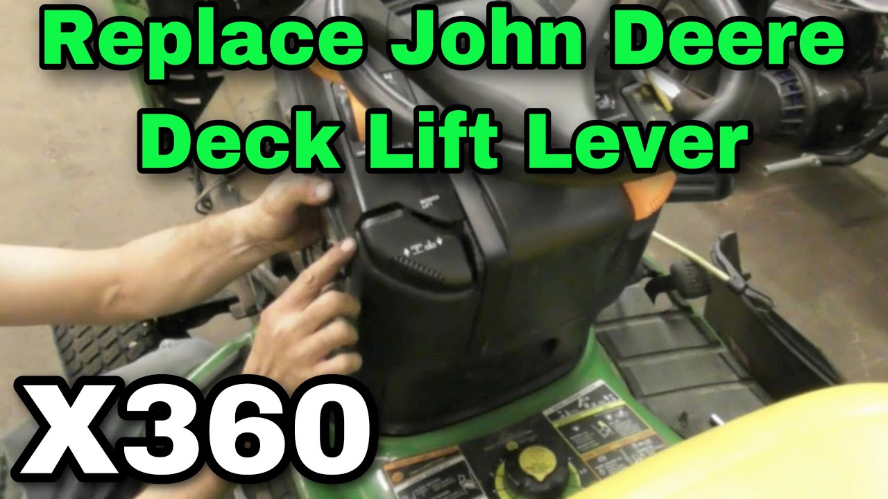 How To Replace A Deck Lift Lever On John Deere X360 Riding Mower Lx277 Belt Drive And Idlers Exploded Parts Diagram With Taryl