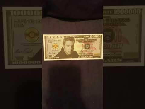 Elvis Presley 1 MILLION Dollar Bill