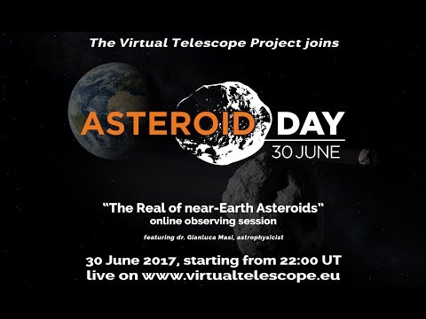"""The Realm of Near-Earth Asteroids: online observing session for Asteroid day 2017"