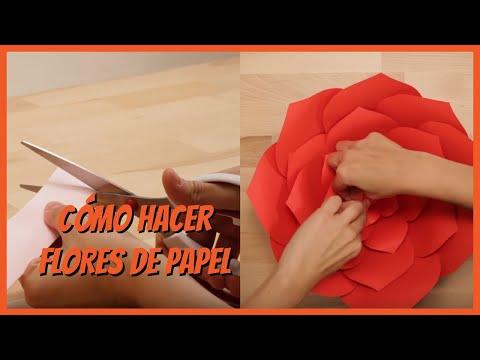 C mo hacer flores de papel youtube - Como hacer flores de papel ...
