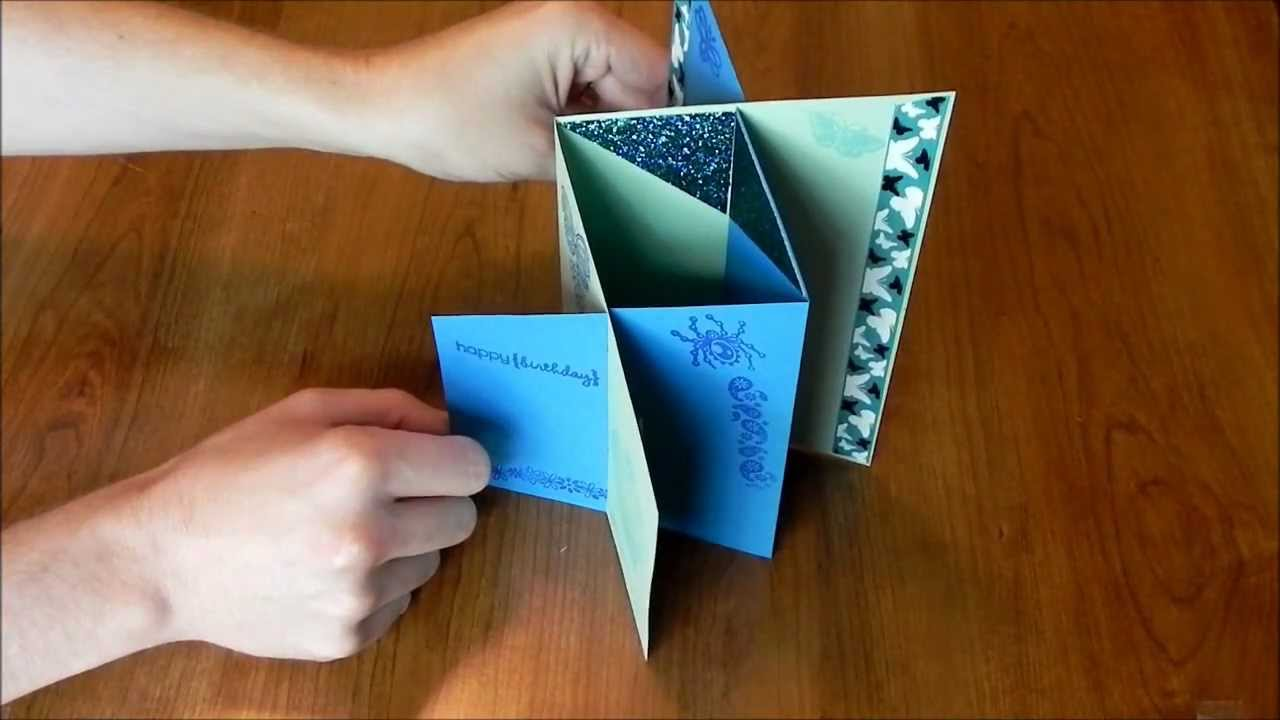 How To Make Cards Cascade Card  Youtube
