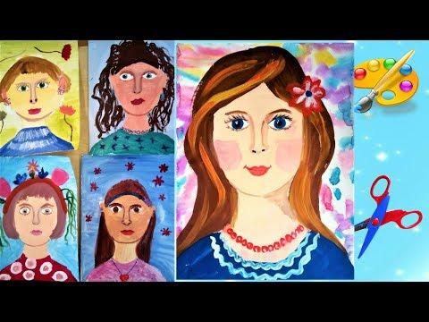 Как нарисовать маму, дети рисуют маму к 8 марта. Уроки рисования. Рисуем с детьми.