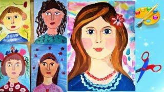 Как нарисовать маму, дети рисуют маму к 8 марта. Уроки рисования