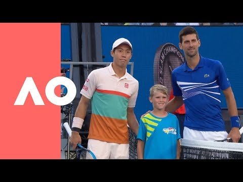 Novak Djokovic v Kei Nishikori on-court warm up (QF) | Australian Open 2019