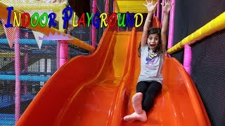 Indoor Playground Family Fun Play Area for kids Giant Slides Children Play Center! kids fun