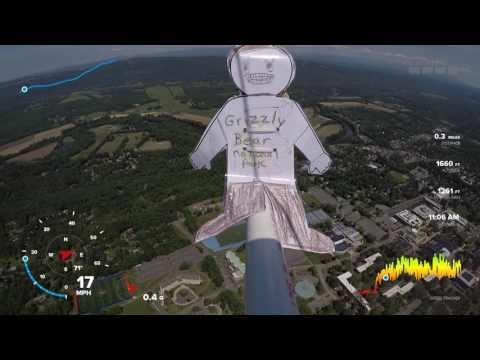 Weather  Balloon Launch with Flat Stanley