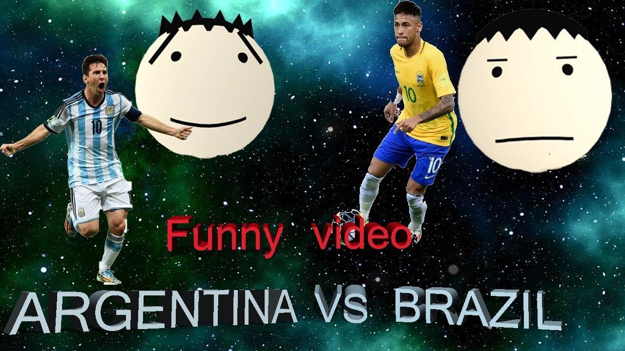 আর্জেন্টিনা vs ব্রাজিল ||BANGLA FUNNY VIDEO || ARGENTINA VS BRAZIL