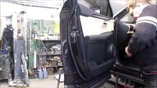 Lexus NX200 2015. The door panel removed. Зняття дверної обшивки.