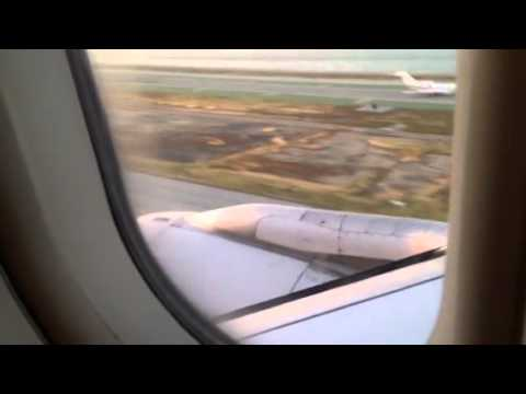 United Airlines Airbus A320 SFO Landing