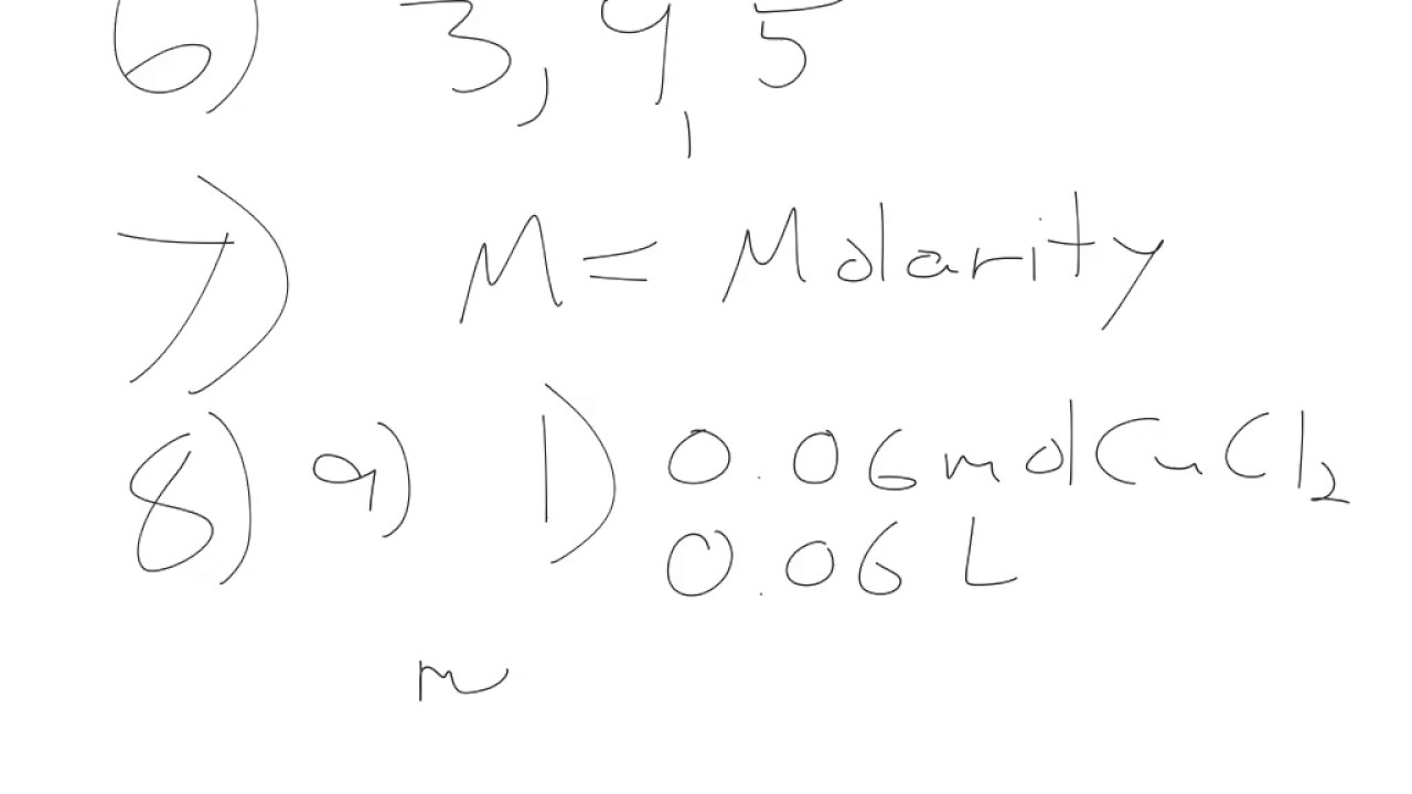 Molarity POGIL