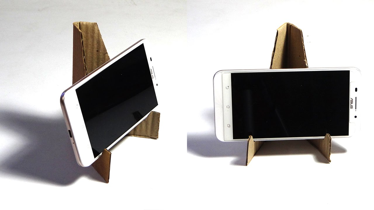 Diy Crafts How To Make Mobile Stand In 1 Minute With Waste