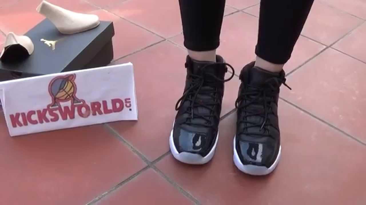 the latest 43460 1a445 ON FEET   Jordan 11 72-10 GS size - YouTube