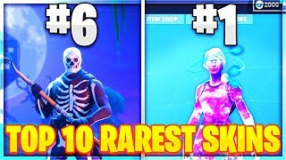 10 RAREST SKINS TO EVER EXIST in Fortnite!!