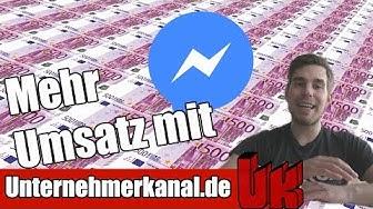 📲 Mehr Umsatz mit dem Facebook Messenger? Warum und wie ich es einsetze!