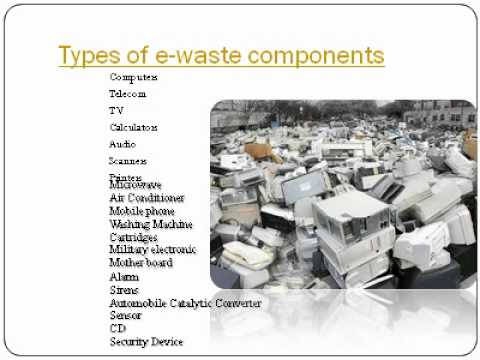 Electronic waste recyclers pptavi - YouTube
