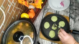 Овощные оладьи (из кабачка и картофеля)