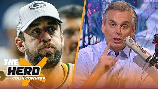 colin cowherd green bay and aaron rodgers is getting uncomfortable nfl the herd