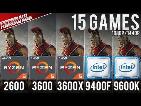 RYZEN 5 3600 & 3600x Benchmarks vs R5 2600, I5 9400F, I5 9600K, I7 8700K 15 Games 1080p  1440p